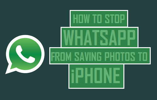 Stop WhatsApp From Saving Photos to iPhone