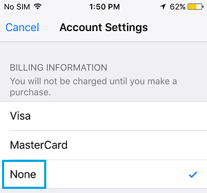 Apple ID Billing Information