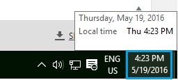 Clock On Windows 10 Computer
