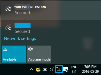 Taskbar WiFi Network iCon