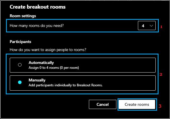 Create Breakout Rooms in Microsoft Teams