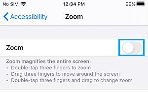 Disable Zoom On iPhone