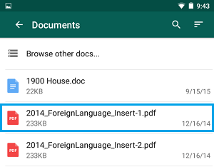 Documents Screen Whatsapp Android