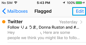 Edit Flagged Emails On iPhone