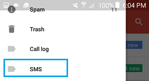 Dedicated SMS Label in Gmail