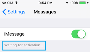 iMessage Waiting For Activation Error On iPhone