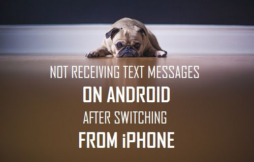 Not Receiving Text Messages On Android After Switching From iPhone