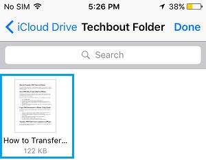 PDF File iCloud Drive