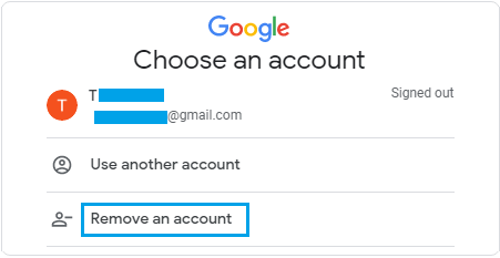 Remove Gmail Account from Computer