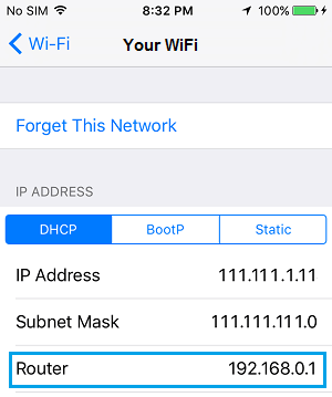 how to find your isp address and password