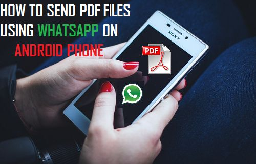 Send PDF Files Using WhatsApp On Android Phone