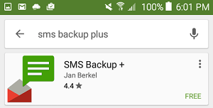 SMS Backup+ App on Google Play Store
