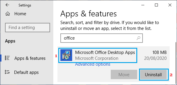 Uninstall Previous Microsoft Office Installation