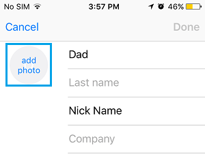 Add Photo to Contact on iPhone