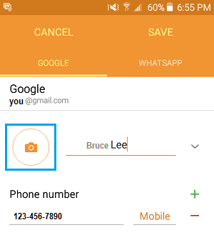 Add Photo to Contact On Android Phone