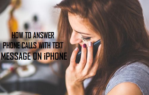 Answer Phone Calls with Text Message On iPhone