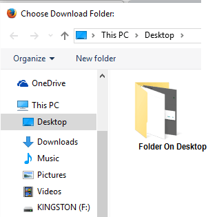 Choose Download Folder Option on Firefox