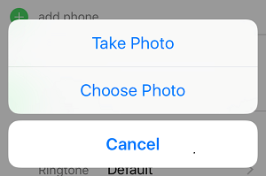 Choose or Take Photo on iPhone