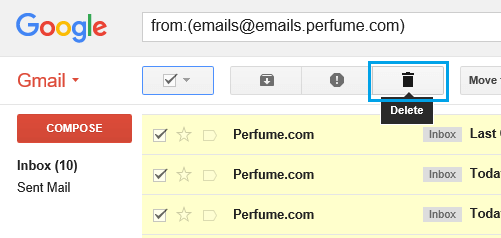 Delete All Emails From a Particular Sender in Gmail