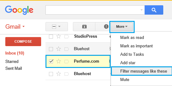 Filter Emails From Particular Sender in Gmail