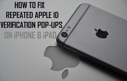 How to Fix Repeated Apple ID Verification Pop-ups On iPhone