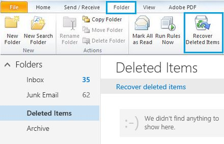Folder Options In Microsoft Outlook