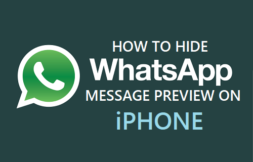 Hide WhatsApp Message Preview On iPhone