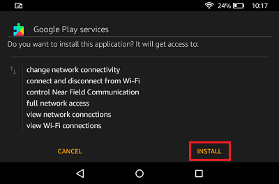 Install Google Play Services on Kindle Fire