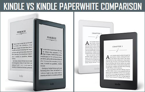 Kindle Vs Kindle Paperwhite Comparison