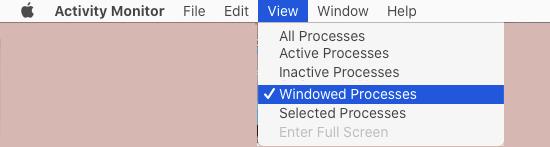 Open Windowed Processes on Mac