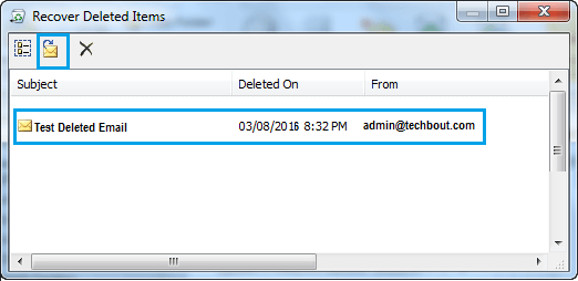Recover Deleted Emails Option in Outlook