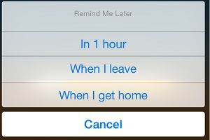 Remind Me Later Option on iPhone