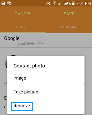 Change or Remove Contact's Photo On Android Phone