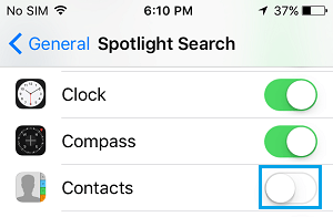 Hide Contacts From Spotlight Search On iPhone