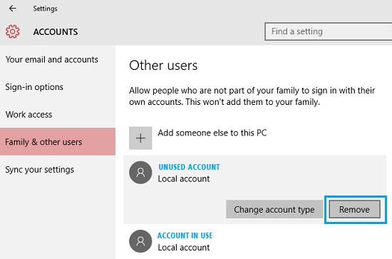 How to Delete User Accounts In Windows 10