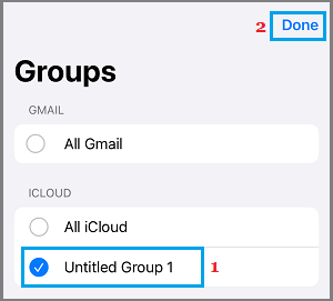 Show Only Group Contacts on iPhone