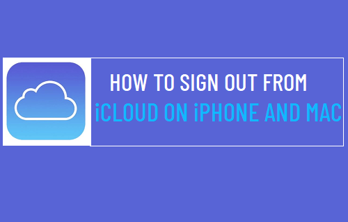 Sign Out from iCloud Account on iPhone and Mac