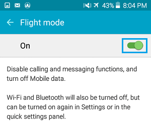 Flight Mode Settings On Android Phone
