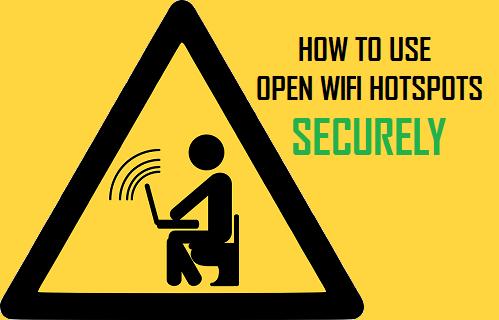 Use Open WiFi Hotspots Securely