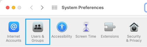 User & Group Icon on System Preference Screen
