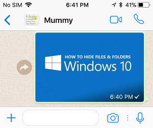 how to send photo in whatsapp iphone