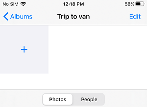 Add Photos to iCloud Shared Album on iPhone
