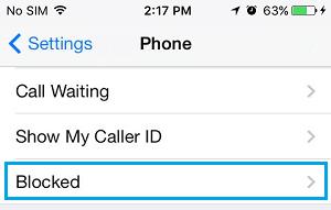 Blocked Tab on iPhone