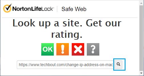 Check URL Using Norton Safe Web