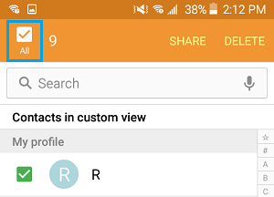 Delete All Contacts on Android