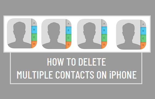 Delete Multiple Contacts on iPhone