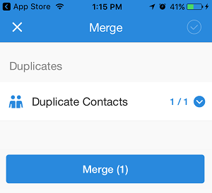 Merge Duplicate Contacts Screen, Simpler Contacts App