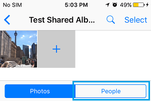 People Tab in iCloud Shared Album