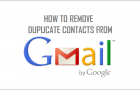 Remove Duplicate Contacts in Gmail