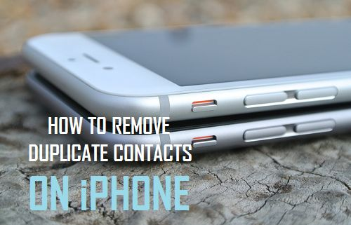 Remove Duplicate Contacts On iPhone